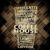 Retro Grunge Coffee Poster Design — Stock Photo