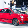 CHICAGO - FEB 12: Fiat 500 Abarth on display at the 2012 Chicago — Stock Photo #21068645
