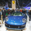 CHICAGO - FEB 16: The New Porsche 911 on display at the 2013 Chi - Stock Photo
