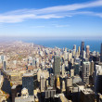 Chicago Skyline Aerial View — Stock Photo #21968383