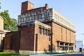 RICHLAND, WI - SEPTEMBER 2: Frank Lloyd Wright's monolithic Germ — Stock Photo