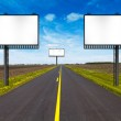 Billboard on Country Road — Stock Photo #22756386