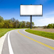 Billboard on Country Road — Stock Photo