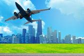 Plane With Blue Sky — Stock Photo