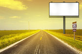 Creative Billboard With Road Background — Stock Photo