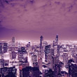 Chicago Skyline at Night — Stockfoto