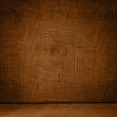 Creative Abstract Room Design With Vintage Grunge Wooden Interio — Stock Photo