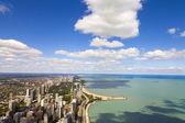 芝加哥湖岸驱动器鸟瞰图 — 图库照片