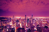 Chicago Skyline at Night — Stock Photo