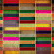 Retro Grungy Wallpaper Pattern - Stock Photo