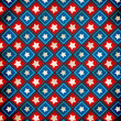 Retro Grunge America Four July Wallpaper Pattern — Stockfoto