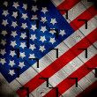 Retro Grunge America Four July Wallpaper Pattern - Stock Photo
