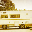 Old Camper Postcard - Stockfoto