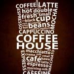 Coffee House Retro Ad — Stock Photo