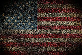 Graphic Design (Vintage Background) - Made In USA - Flag Element — Stock Photo