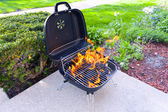 House Grill With Big Flame — Foto de Stock