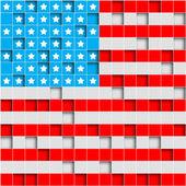 Retro Grunge America Four July Wallpaper Pattern — Stock Photo