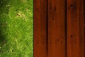 Vintage Poster auf Holz und natürlichen Hintergrund — Stockfoto