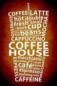 Retro Coffee Ad Background — Stock Photo