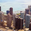 Top view on chicago downtown — Stock Photo #29796655