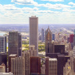Top view on chicago downtown — Stock Photo