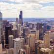 Stock Photo: Top View On Chicago Downtown Office Buildings