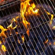 House Grill With Big Flame — Stock Photo