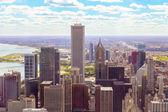 вид сверху на чикаго центр города — Стоковое фото