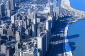Winter In Chicago (Aerial View) — Stockfoto
