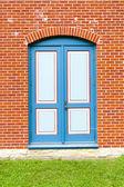 Blauwe deur — Stockfoto