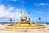 "Fountain ""Paseo de la Princesa"" in old San Juan, Puerto Rico. — Stock Photo"