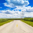 American Country Road Side View — Stock Photo