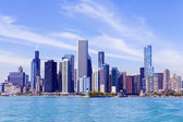 Chicago Skyline With Blue Clear Sky — Stock Photo