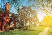 Primavera nos subúrbios — Fotografia Stock