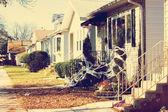 Houses on street — Stock fotografie