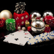 Casino composition in chritmas — Stock Photo