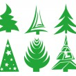 Christmas tree set — Stockvektor