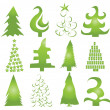Set of Christmas trees vector — Stock Vector #13447450