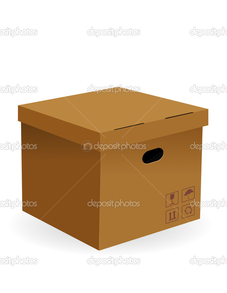 Carton box  Stock Vector #13447447