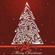 Vector Christmas card — Image vectorielle