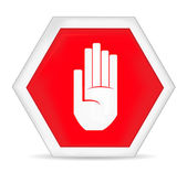 No entry stop hand sign — Stock Vector