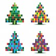 Vector christmas tree illustration — Stock Vector