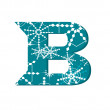 Vector snow font letter B — Stock Vector