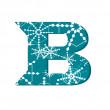 Vector snow font letter B — Stock Vector