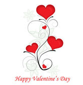 Red valentine day heart background. Vector illustration. — 图库矢量图片