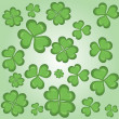 Clover background vector — Stock Vector