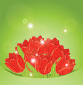 Holiday background with bouquet of flowers — 图库矢量图片