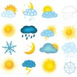 Set of  vector weather icons — Stock Vector