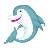 Cartoon dolphin — Stock Vector