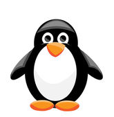 Penguin illustration — Vector de stock